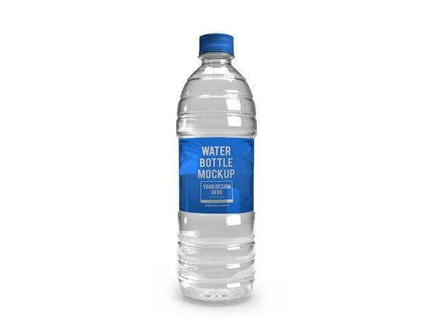 Modello di mockup di bottiglia d'acqua realistico isolato
