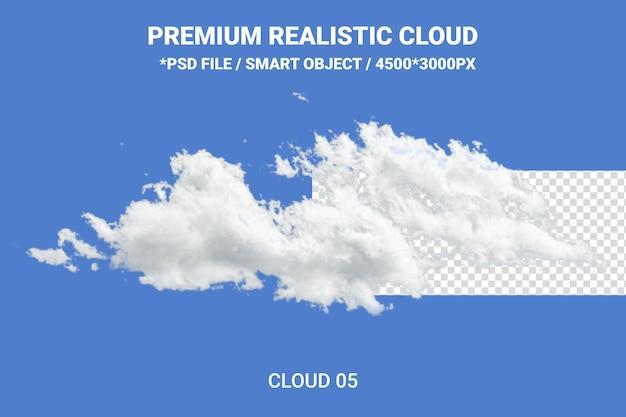 Rendering realistico di progettazione nuvola bianca isolato