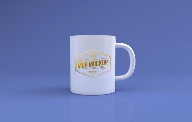 Realistico bianco grande tazza mockup 3d rendering isolato