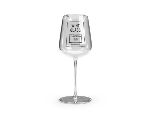 Modello di mockup di bicchiere di vino realistico isolato