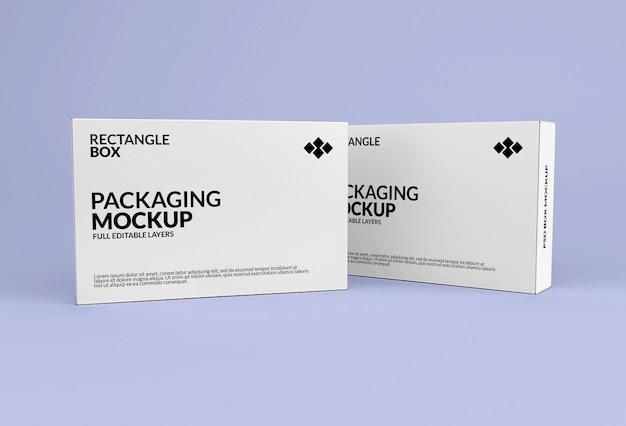 Mockup di scatola rettangolare per l'imballaggio del prodotto