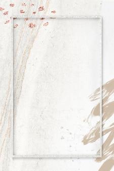Cornice rettangolare sul mockup di sfondo sociale di neo memphis