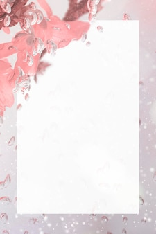 Mockup di cornice di fiori di forsizia naturale rettangolare