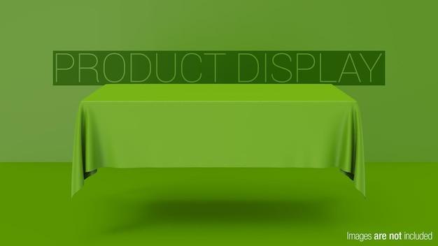 Display del prodotto da tavolo rettangolare