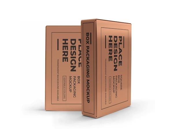 Mockup di imballaggio scatola rettangolare