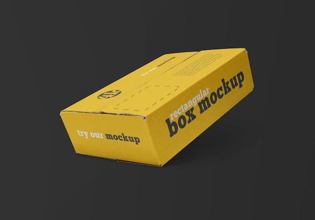 Mockup di scatola di consegna rettangolare isolato