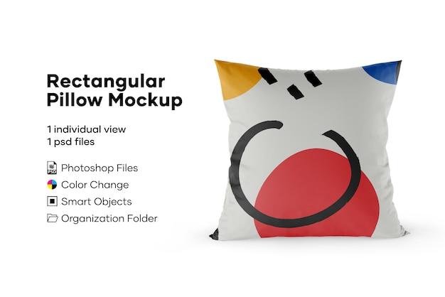 Mockup cuscino rettangolare
