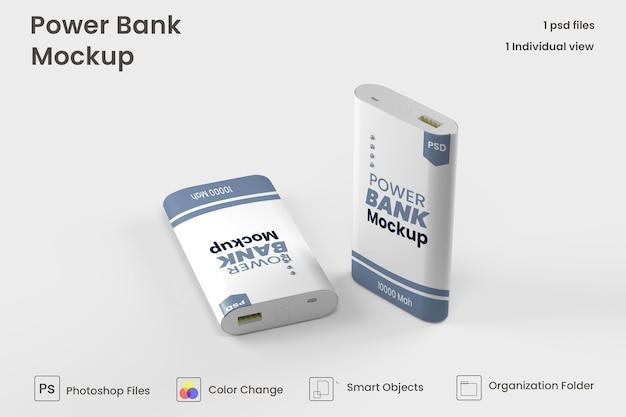 Mockup di power bank rettangolare psd premium