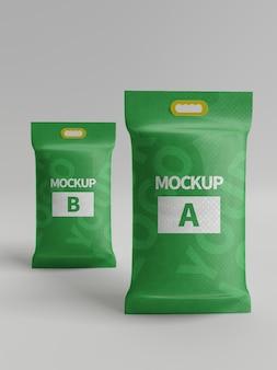 Mockup di confezione rettangolare per snack