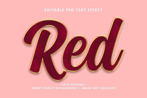 Effetto testo in oro rosso