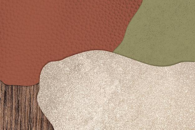 Vettore di sfondo a motivi collage rosso e verde