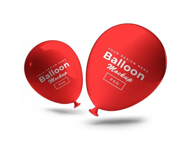 Mockup 3d di palloncino rosso partito