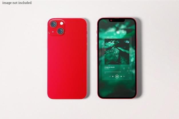 Prototipi di smartphone rossi