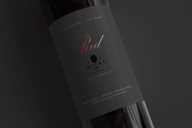 Bottiglia di vino rosso mockup