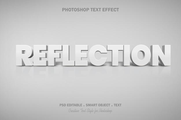 Disegno del modello di effetto di testo di riflessione