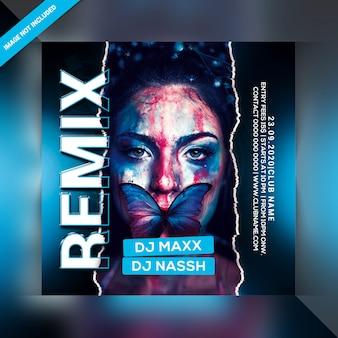 Volantino per feste remix