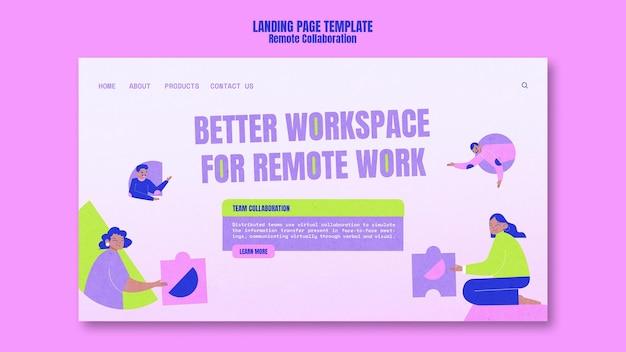 Modello di home page di collaborazione remota