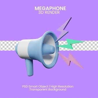 Rendering dell'illustrazione del megafono