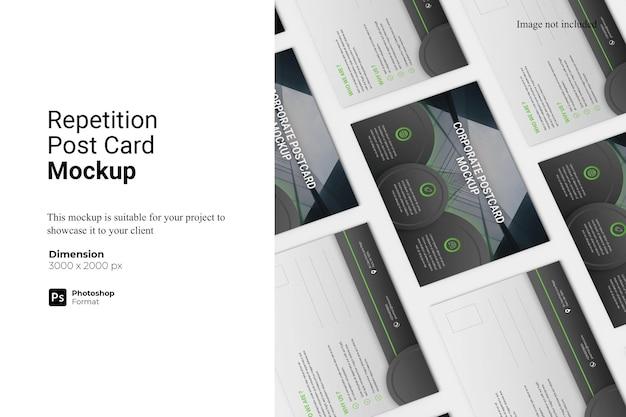 Ripetizione post card mockup design isolato