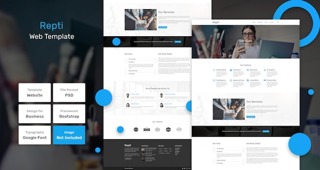 Repti web template