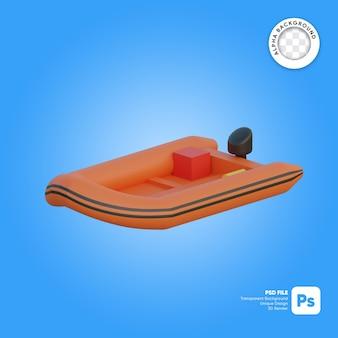 Barca di salvataggio oggetto 3d isometrico