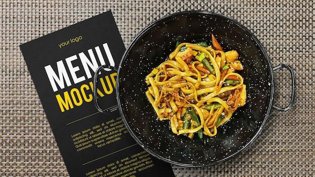 Mockup del concetto di menu del ristorante