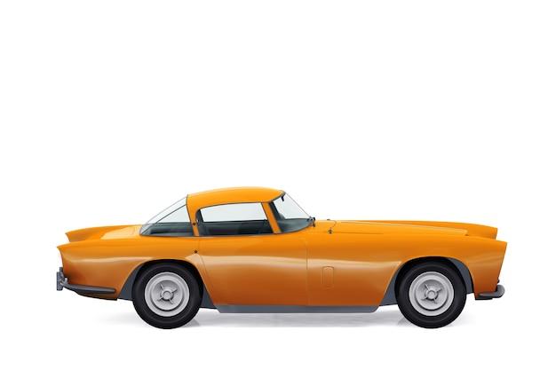 Mockup di auto coupé retrò 1953