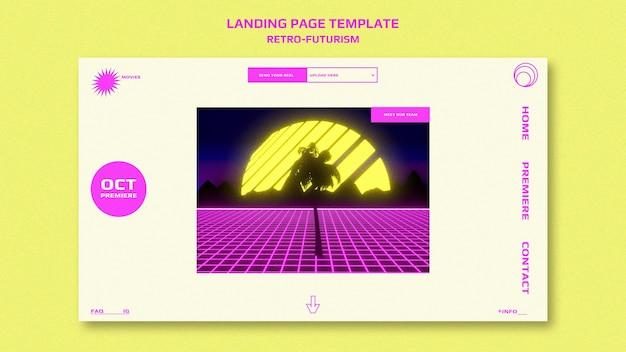 Modello di pagina di destinazione del retro-futurismo