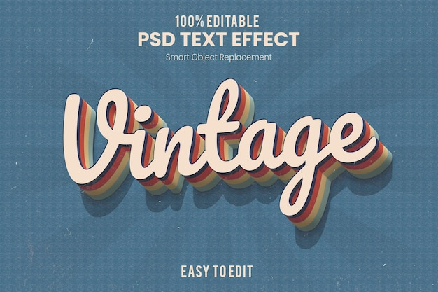 Azione di effetto di testo estruso 3d vintage retrò