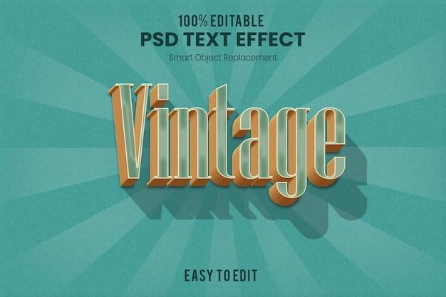 Effetto di testo estruso 3d vintage retrò Psd Premium