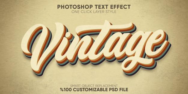 Modello di stile di testo retrò, vintage effetto testo anni '70 e '80