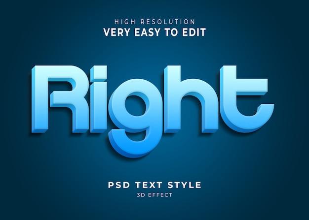 Giusto effetto testo moderno 3d
