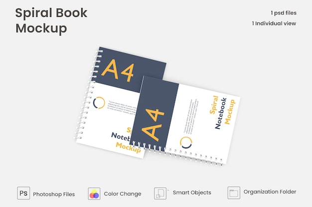 Modello di mockup di quaderno con anelli psd gratuite