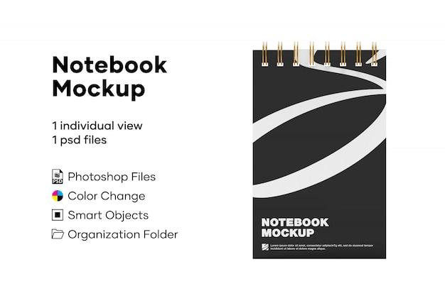 Mockup notebook anellato