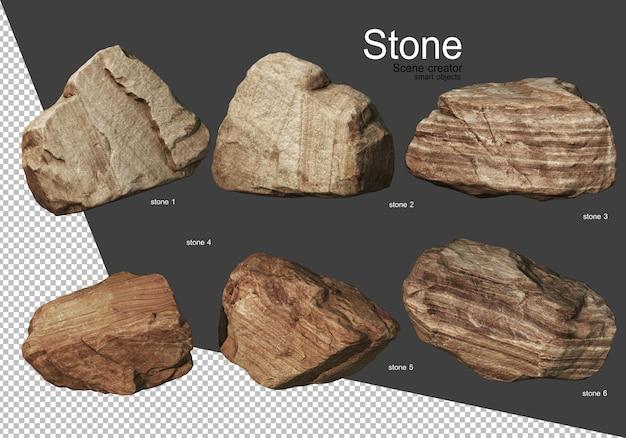 Formazione rocciosa in modi diversi