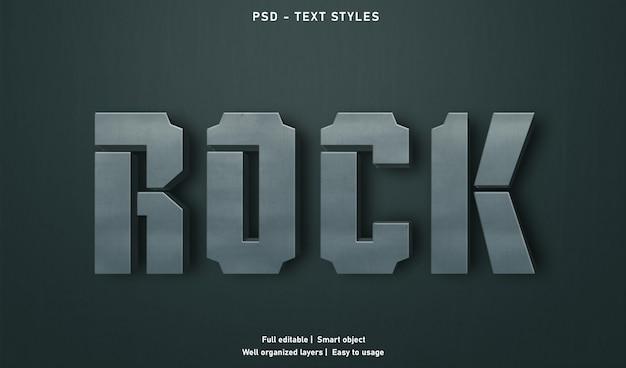 Modello di stile di effetti di testo rock