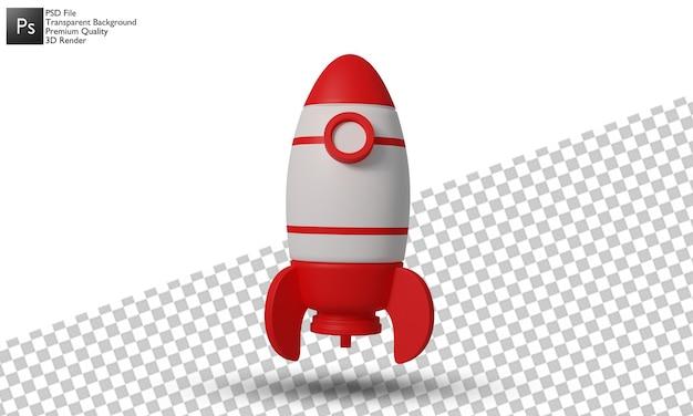 Progettazione 3d dell'illustrazione del razzo