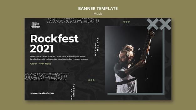 Modello di banner rockfest 2021
