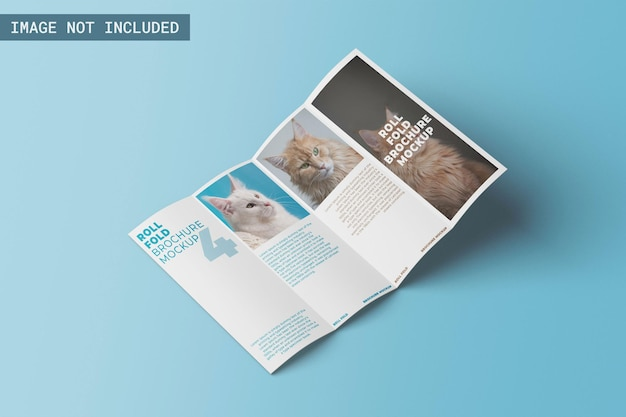 Modello di brochure pieghevole arrotolato angolo sinistro a sinistra