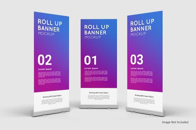 Roll up banner mockup isolato