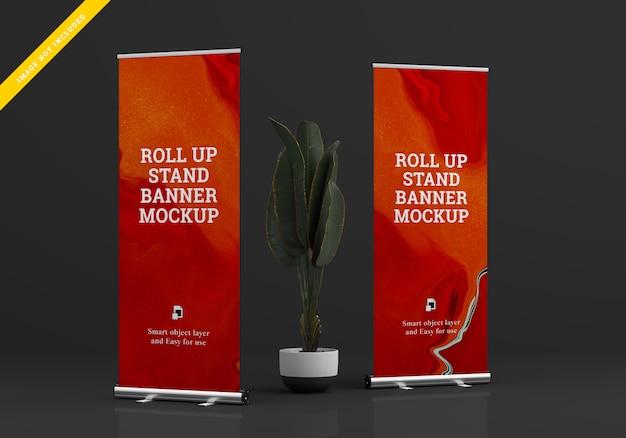 Supporto per banner roll up per mockup