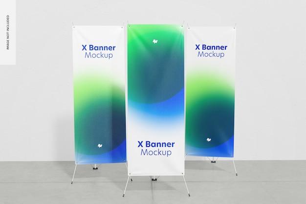 Roll-up o x-banner set mockup