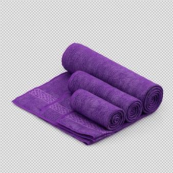 L'asciugamano rotolato 3d isolato rende