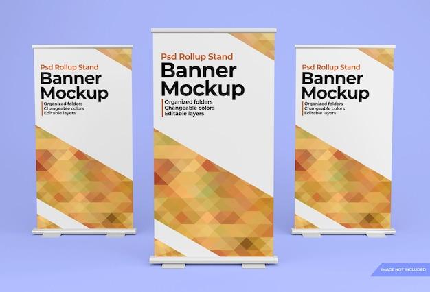 Mockup di design banner rollup permanente