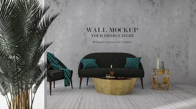 Mockup di pareti della stanza per le tue idee di design