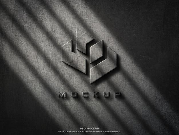 Mockup logo in cemento grezzo