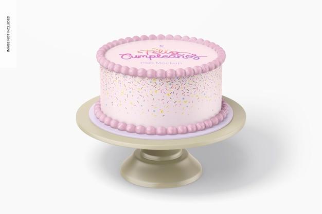 Mockup di torta rotonda