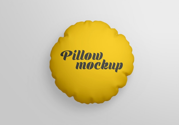 Mockup cuscino rotondo