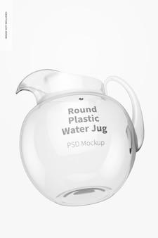 Mockup di brocca d'acqua rotonda in plastica, galleggiante
