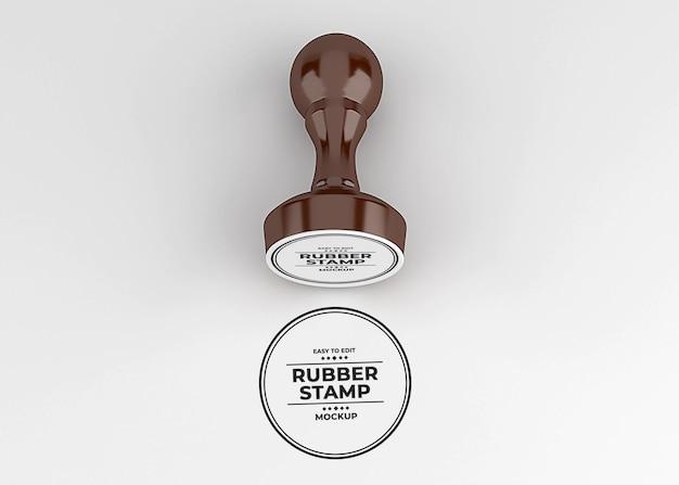 Design mockup logo timbro di gomma arrotondato